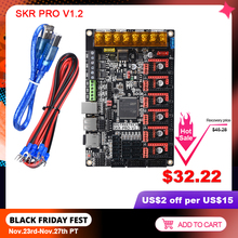 BIGTREETECH SKR PRO V1.2 płyta sterowania TMC2209 TMC2208 UART TMC2130 SPI 32 Bit 3D drukarki części uaktualnić pokładzie podwójne Z SKR V1.3