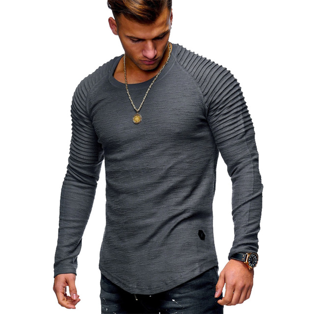 New Arrival Casual Pullover Men Long Sleeve O-Neck