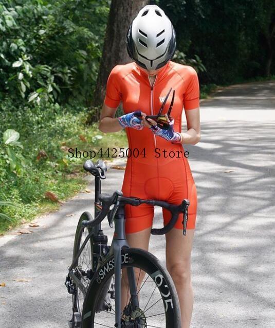 2020 pro equipe triathlon terno de manga curta das mulheres camisa ciclismo skinsuit macacão maillot ciclismo ropa ciclismo conjunto gel 6