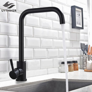 Uythner Matte BlackBrushed Nickle Kitchen Faucet Hot And Cold Water Mixer Faucet For Kitchen Water Faucet Kitchen Taps