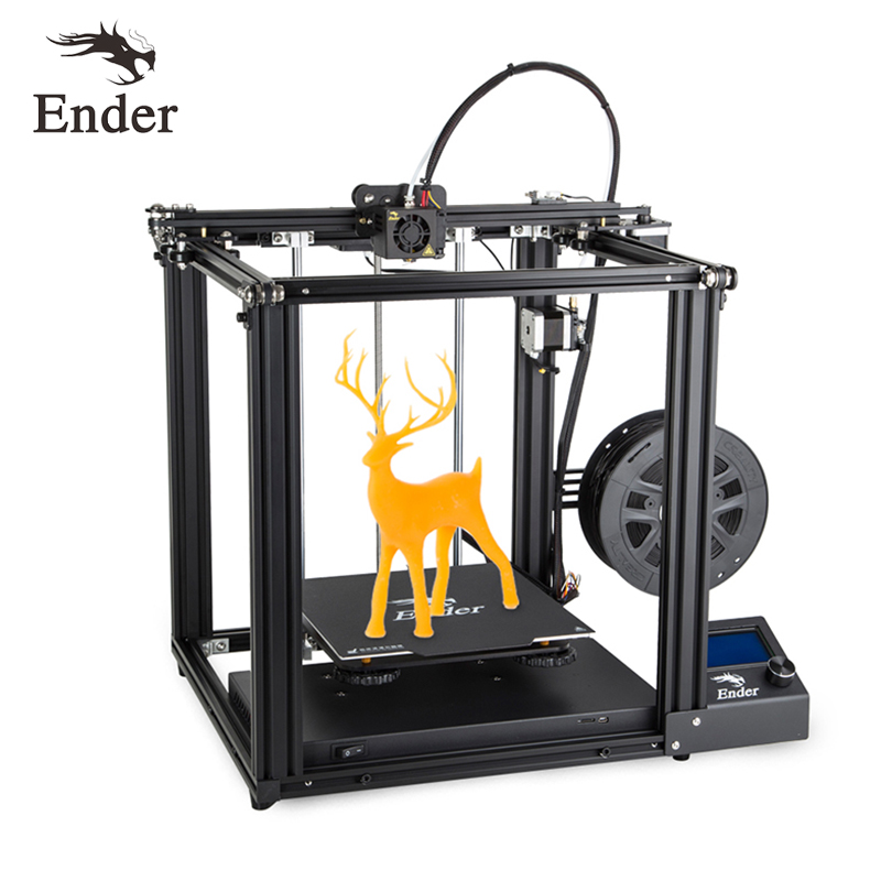2019 Newest Ender-5 3D Printer V1.1.4 Mainboard Large Size Ender5 Cmagnetic Plate Power Off Resume Enclosed Structure Creality3D