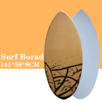 Skimboard Surf board in Surfing 2019 New style Brown with Black color surfboard Let you have a great surfing experience.