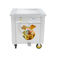 50cm pan size top selling free shipping good price single pan fried ice cream rolled machine