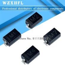 Pcs SMD Diodos Retificadores DO-214AC 50 M7F M7 M4 M2 M1 1A 50V 100V 200V 400V 600V 800V 1000V SMA Silicon Eletrônico
