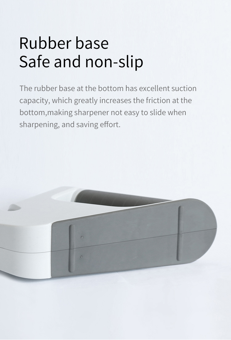 Nuoten Professional multi-function  4-in-1 Knife Sharpener  serrated Knife and Scissors Sharpening stone Coated Non-slip Base