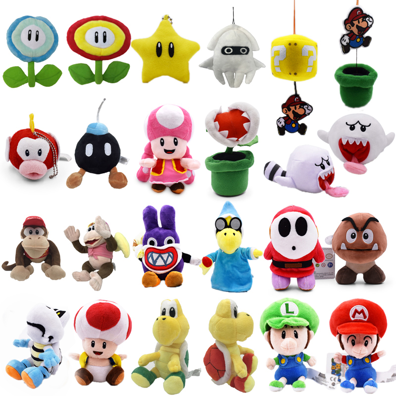 Anime Super Mario Bros Bomb Magikoopa Toad Shy Guy Ghost Blooper DiddyPeluche Doll Plush Soft Stuffed Baby Toy Christmas Gift(China)
