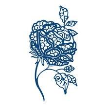 Buy YaMinSanNiO Rose Flower Metal Cutting Dies for Dies Scrapbooking Card Making Embossing Die Cut New Craft Dies Album Embossing directly from merchant!