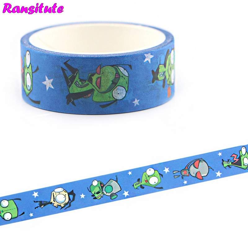 Ransitute Anime Cartoon Tape Sticker DIY Scrapbook Decoration Tape Children's Hobby Art And Craft Supplies Stationery Gifts R667