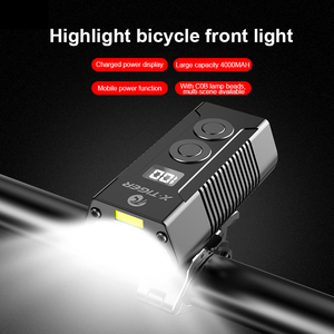 Image 2 - X TIGER 4000mAh Bicycle Light 1800 Lumens MTB Cycling Front Flashlight Power Display Mountain Bike Light USB Rechargeable Led