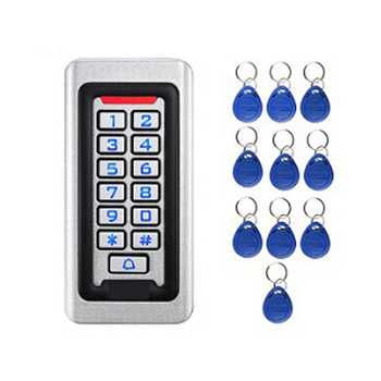 RFID Access Waterproof Outdoors Use Metal Stainless Steel Reader 2000 Users Access Control System Keypad Password Access Smart D