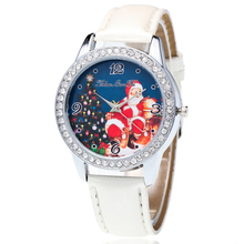 Wristwatch Quartz Women Santa Lovers New Strap Amp Pretty Claus-Pattern