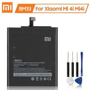 Image 1 - XiaoMi Original Replacement Battery BM33 For Xiaomi Mi 4i Mi4i 100% New Authentic Phone Battery 3120mAh