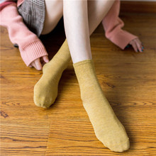 1 Pair Fashion Solid Socks Tube Base Women's Casual Socks High Quality Breathable Cotton Mid Socks Black White Yellow Blue Hot stylish football cotton socks white blue pair
