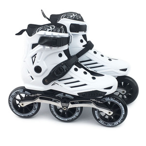 Image 2 - JK RS6 prędkości łyżworolki łyżwy profesjonalne buty do jazdy na rolkach dla dorosłych 3 lub 4*110mm koła Patines FSK Rollerblade SH55