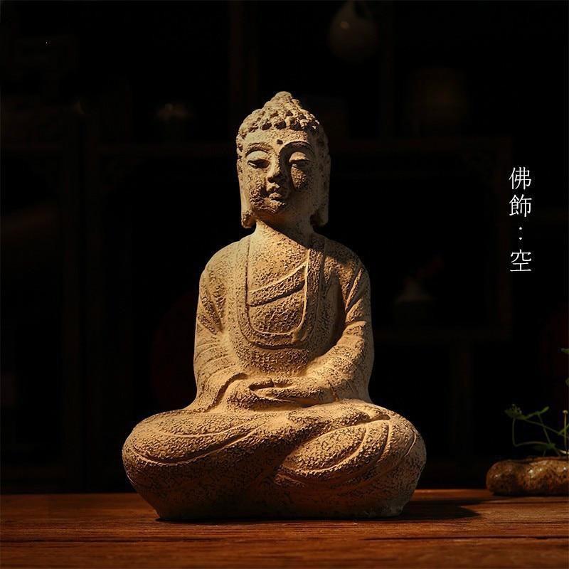 Artisanat, statues de bouddha en résine, décoration d'ameublement, activités bouddhistes, artisanat bouddhiste, joss ~-in Statues et sculptures from Maison & Animalerie    1