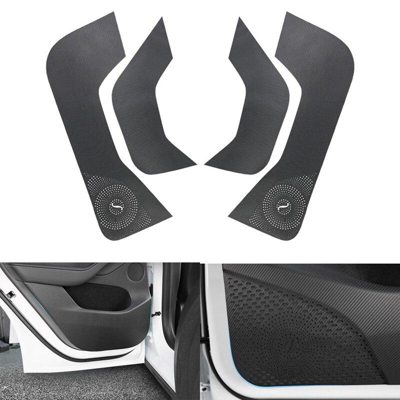 4PCS Door Anti Kick Mat,for Tesla Model Y 2021 Door Dust Proof Panel Cover Trim Door Anti-Kick Protector