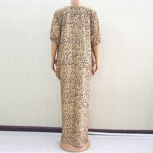 Image 2 - 2019 moda afrykański rękaw w kształcie skrzydła nietoperza wzór lamparta drukowana tkanina na sukienkę Plus rozmiar