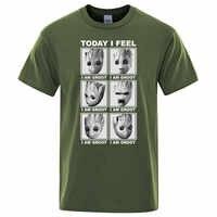 Marvel top tees hoy me siento yo soy groot t camisa de los hombres ropa informal de algodón camiseta Hip Hop camiseta de dibujos animados Harajuku nuevas camisetas para hombre