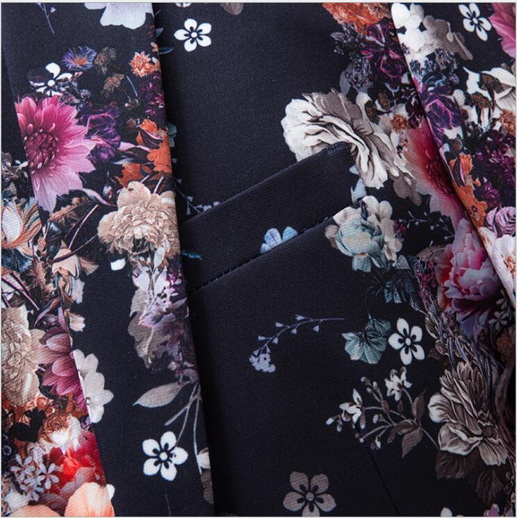 2019 осенние и зимние мужские модные костюмы с цветком, мужские свадебные смокинги с длинным рукавом, высокое качество, деловой костюм из 3 пре... - 3
