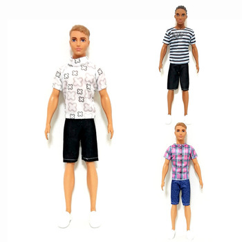 Handmade Sporty Outfits Set for Barbie Ken BJD SD Doll Clothes Accessories Play House Dressing Up Costume Kids Toys Gift ken the boyfriend swimming pants outfits for barbie bjd doll clothes accessories play house dressing up kids toys