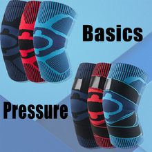 цена на 1pc Nylon Elastic Sports Knee Pads Breathable Support Knee Brace Running Fitness Hiking Cycling Knee Protector