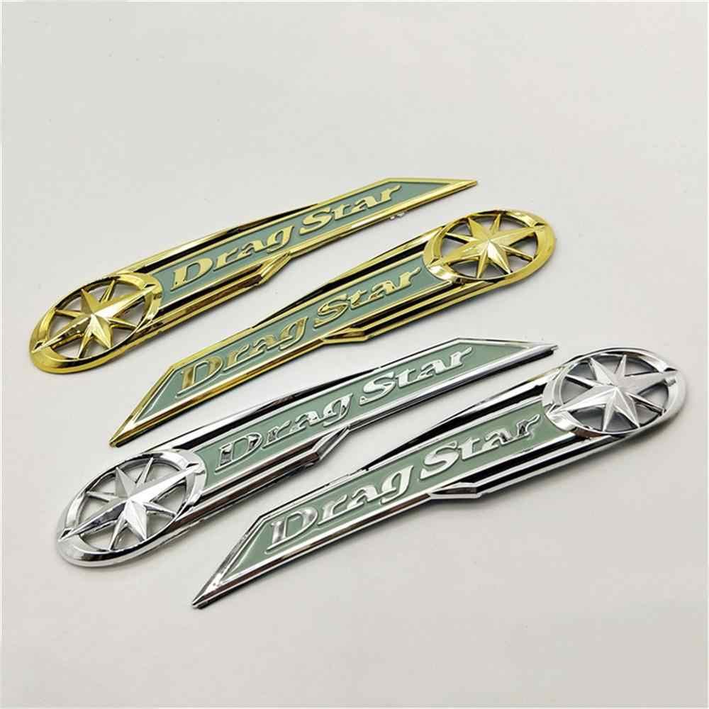 Stickers de moto Chrome moto de carburant r/éservoir de carburant Emblem Badge D/écalques 400//600 VLX 400//600