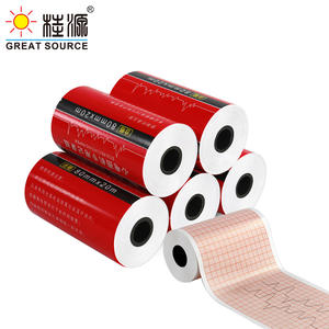 50mm Meical Electrocardiogram Recording Paper Single Lead 60g Pulp Paper 20m(10Rolls)