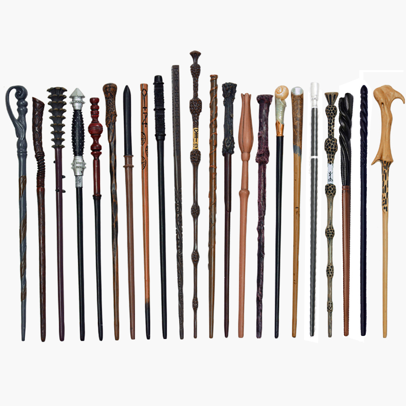 28 Kinds Of Cosplay Potter Magic Wands Cosplay Metal/Iron Core Children Magic Toy Wand Gift No Box Package Prop Stage Magic Tricks