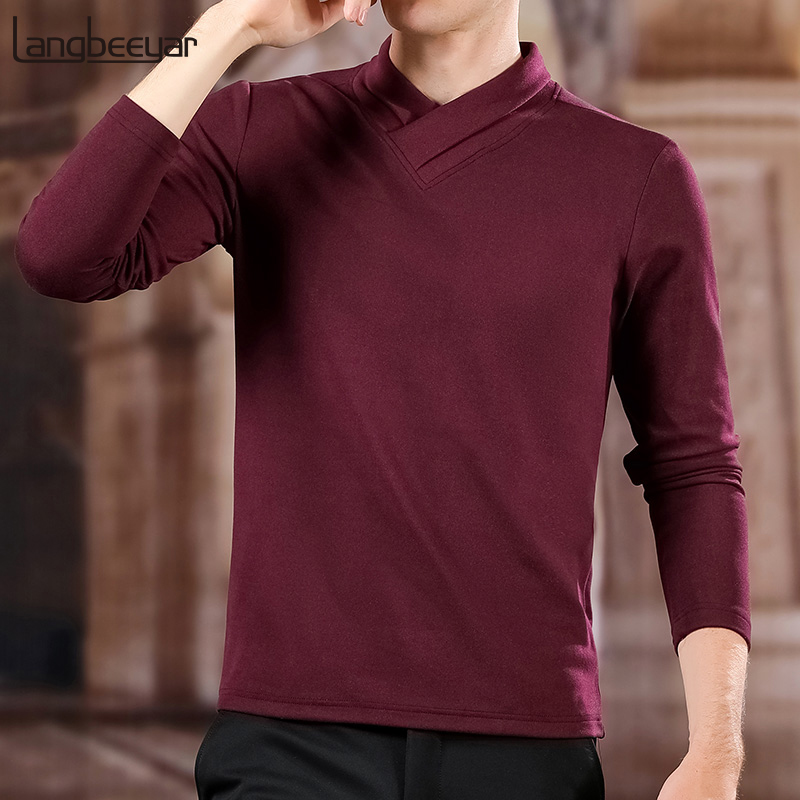2019 New Fashion Brand Sweater Mens Pullovers V Neck Slim Fit Jumpers Knitred Woolen Winter Korean Style Casual Mens Clothes