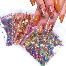 Nail-Glitter Nail-Art-Decorations Sparkle-Laser Sequins-Flakes Mix-Color Holographic-Maple