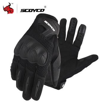 цена SCOYCO Motorcycle Gloves Summer Breathable Mesh Moto Gloves Touch Function Motorbike Gloves Motocross Off-Road Racing Gloves онлайн в 2017 году