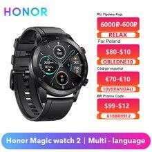 כבוד קסם שעון 2 Smartwatch GPS Tracker 14 ימים שיחת טלפון כושר SpO2 קצב לב צג חכם שעון גברים הגלובלי גרסה תמיכה בעברית