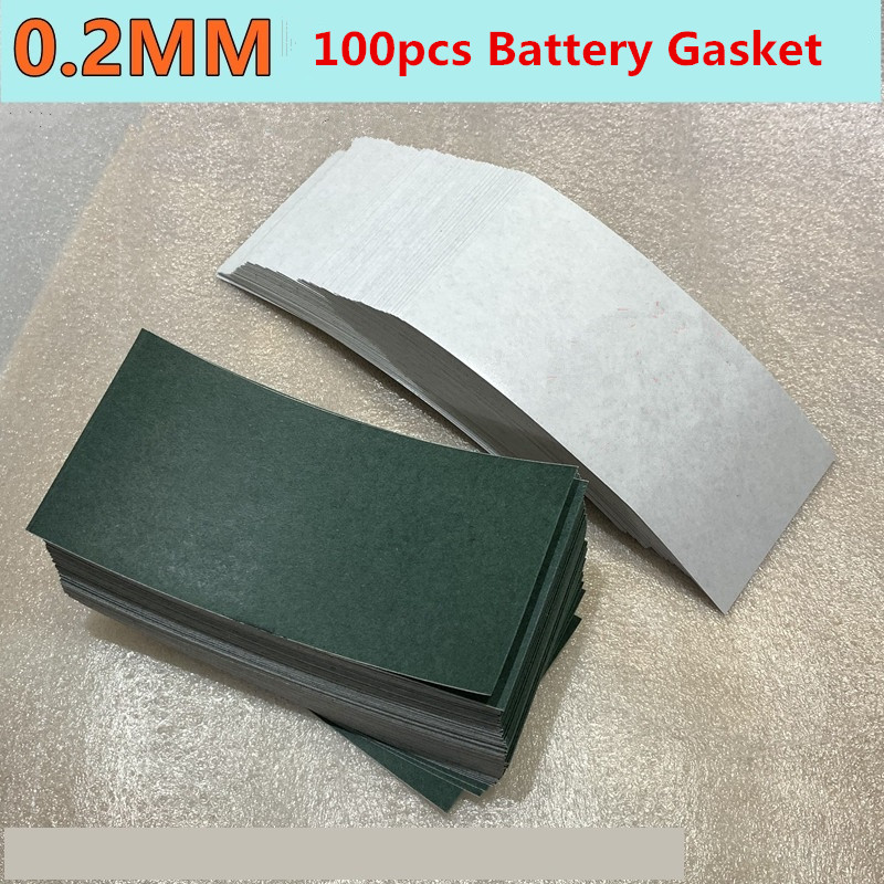 100pcs Barley Paper 0.2mm Thick 18650/32650 Battery Pack Insulation Gasket Spot Welding Machine Battery Welding Accessories