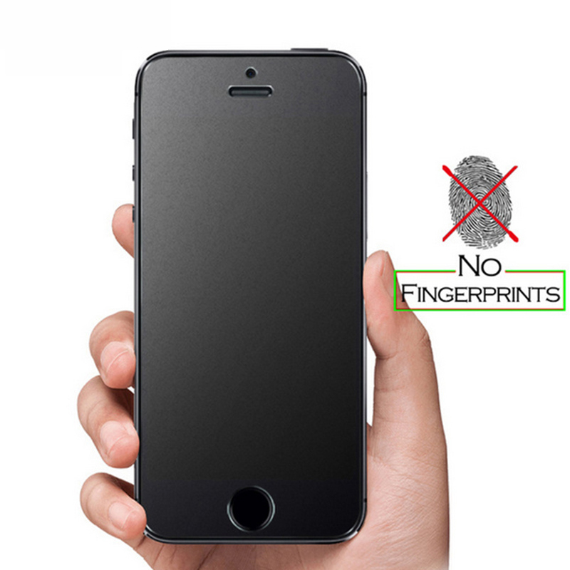 Matte No Fingerprint Frosted Tempered Glass For IPhone 6 6s 7 8 Plus X Xs Max XR 11 Pro Max 5 5S SE Screen Protector Film
