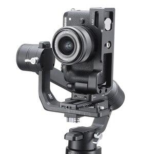 Image 4 - UURig Arca שחרור מהיר L צלחת עבור Canon M6 Mark II עם קר נעל 1/4 בורג כדי מיקרופון