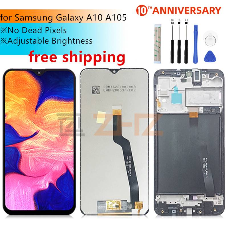 For Samsung Galaxy A10 lcd A105 A105F SM-A105F 2019 lcd Digitizer Assembly with frame a10 display replacement Repair parts(China)