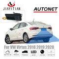 كاميرا JIAYITIAN بمقبض حقيبة السيارة لسيارات Volkswagen VW Virtus 2018 2019 2020 ccd كاميرا الرؤية الخلفية عالية الدقة كاميرا احتياطية لإيقاف السيارة