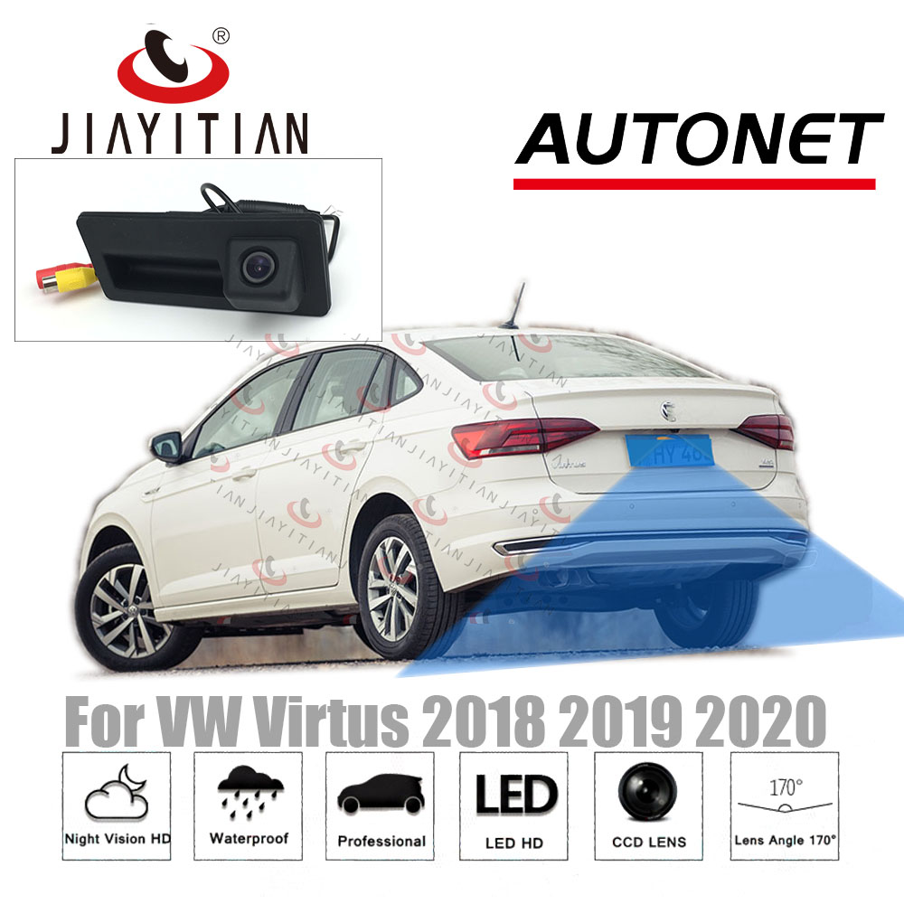 JIAYITIAN Car Trunk Handle Camera For Volkswagen VW Virtus 2018 2019 2020 Ccd HD Rear View Camera Parking Backup Reverse Camera