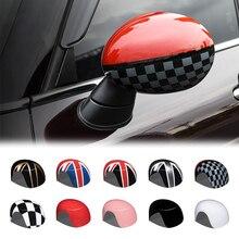 Cubierta de protección para espejo retrovisor, decoración Exterior, para BMW MINI ONE COOPER S JCW F54 F55 F56 F57 F60 2013 2018, 2 uds.