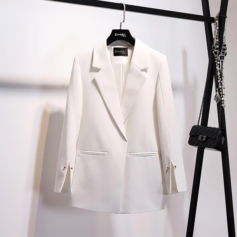 Spring Women Blazer Autumn Women's Jacket Korean Pink Black Casual Women Blazers And Jackets Coat Female 2020 KJ1722 's S S