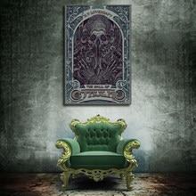 Cthulhu-affiche en tissu avec impression sur toile, Lovecraft, Nouveau, pour décoration