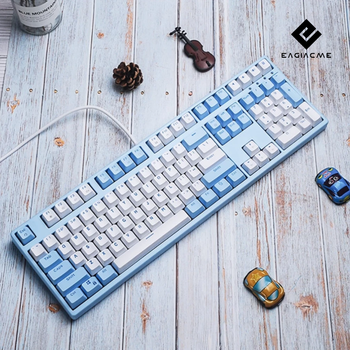 108/87 Mechanical Gaming Keyboard For Gamer LED Backlight Keyboard USB Wired Keyboard For PC/Laptop EN/RU Keyboard PBT Keycaps pc gaming keyboard mechanical computer crack gaming keyboard gamer backlight usb wired breathing waterproof mechanical keybord