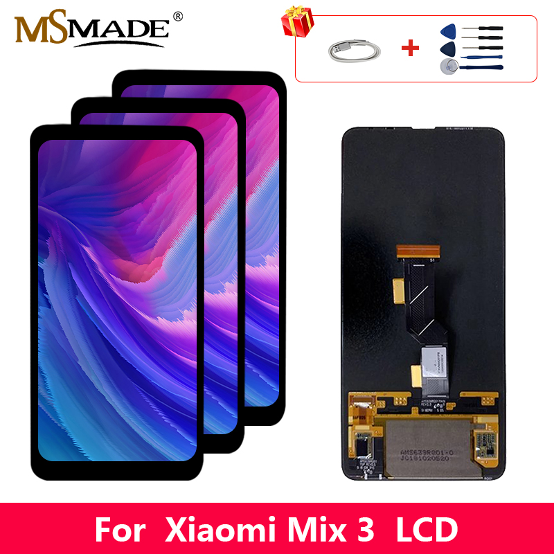 "6.39"" Super AMOLED For Xiaomi Mix 3 LCD Display Screen Touch Digitizer Replacement Parts For Xiaomi Mix 3 Display Screen"