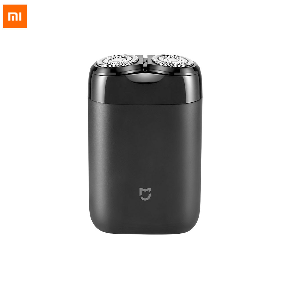 Original Xiaomi Electric razor Shaver rotating double head Full body wash Type c charge silent motor double safe protection|Electric Shavers|   - AliExpress