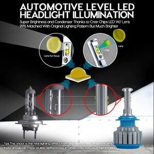 Image 3 - CNSUNNYLIGHT רכב פנס H7 H4 LED H8/H11 HB3/9005 HB4/9006 H1 H3 9012 H13 9004 9007 70W 7000lm אוטומטי הנורה פנס 6000K אור