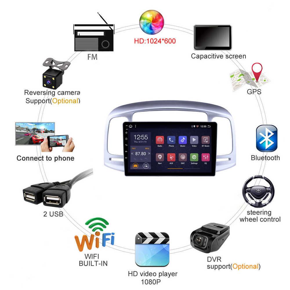 """ヒュンダイアクセント 2006-2011 2 グラム + 32 グラムアンドロイド 8.1 9 """"GPS ナビマルチメディアシステム自動ビデオ DVD プレーヤーミラーリンク SWC"""