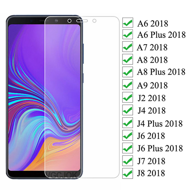 9D Protection Glass For Samsung Galaxy A6 A8 J4 J6 Plus 2018 J2 J8 A7 A9 2018 Tempered Screen Protector Safety Glass Film Case 1