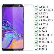 9d proteção de vidro para samsung galaxy a6 a8 j4 j6 plus 2018 j2 j8 a7 a9 2018 temperado protetor de tela película de vidro de segurança caso