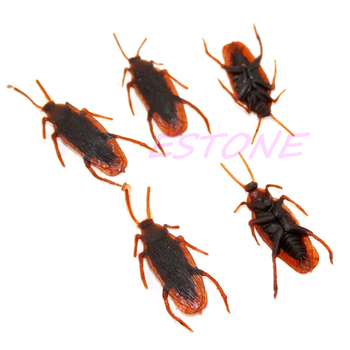 POP FAKE COCKROACH PRANK FUN JOKE TRICK KIDS INSECT BUG BEST GIFT PLASTIC TOY image