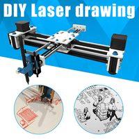 Hot Sale Mini XY 2 Axis CNC Plotter Pen USB DIY Laser Drawing Machine Engraving Area Desktop Drawing Writing Robot 280x200mm